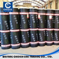 Chinese brand cheapest 2/3/4mm SBS bitumen waterproof membrane, roll building roof asphalt material / aluminum foil sheet