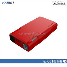 2015 Carku new product car accessory 8000mAh multi emergency mini jump starter for smartphone