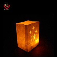 White color paper bags wholesale luminaria candle bag