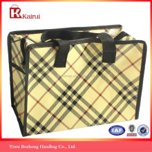 4 color promotional laminated non woven shopping bag