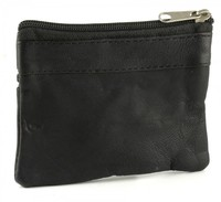 Genuine leather zip coin purse popular men's coin purse