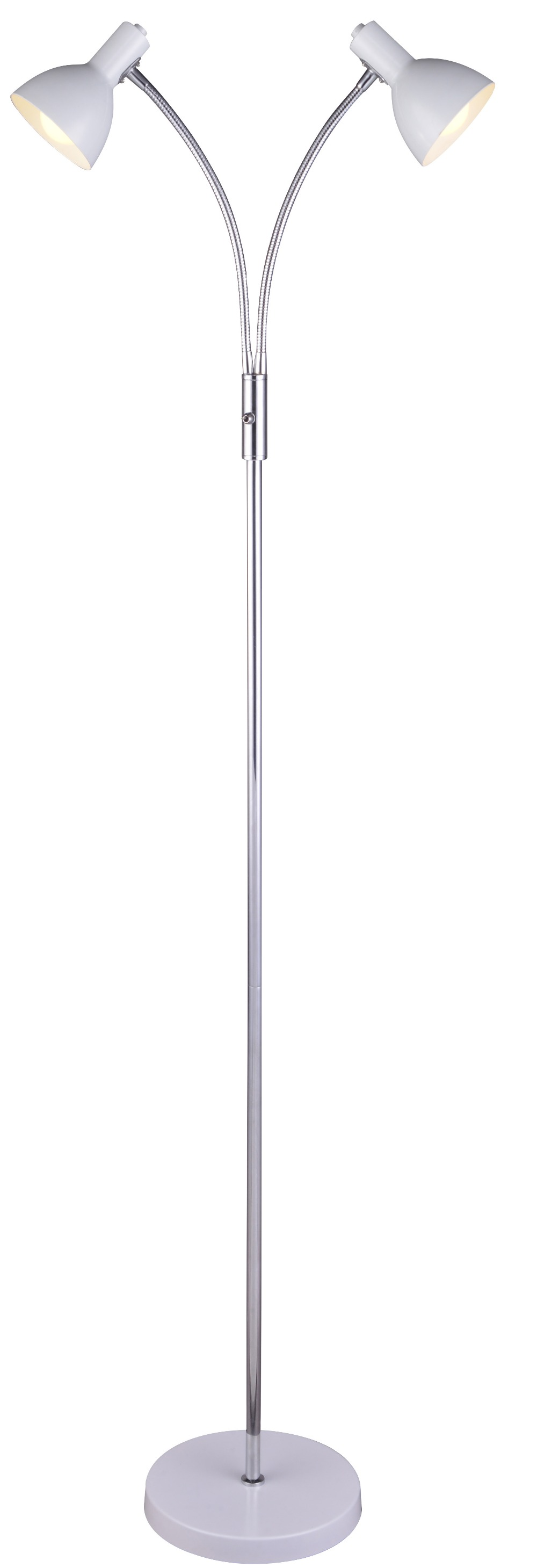 Floor lamp with two head