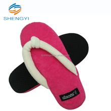 Summer custom printed antiskid soft velvet flip flops