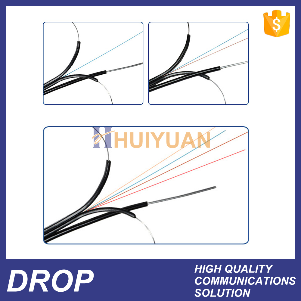 HUIYUAN 2 core ftth drop fiber cable fusion