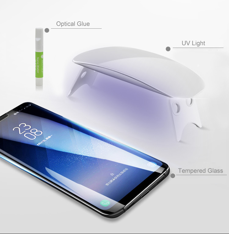 for samsung s20 3D cover uv liquid nano full glue tempered glass screen protector for samsung note 10 protective film