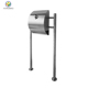 Modern Urban Style Semi Curve Lockable Mailboxes Painted Stainless Steel Mail Boxes