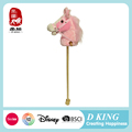 2017 NEW fashion wholesale plush horse hobby head toy with wooden stick