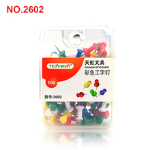 WHOLESALE OFFICE STATIONERY PLASTIC HEAD PUSH PIN FANCY OFFICE MAP PIN METAL PIN THUMB TACKS