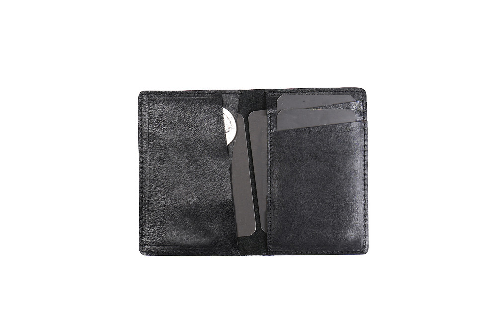 Stylish Italian vegetable tanned leather coin purse with card slot travel wallet for mem