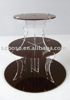 Round Cupacake Holder,Acrylic Display Stand,3 tiers Cupcake Rack