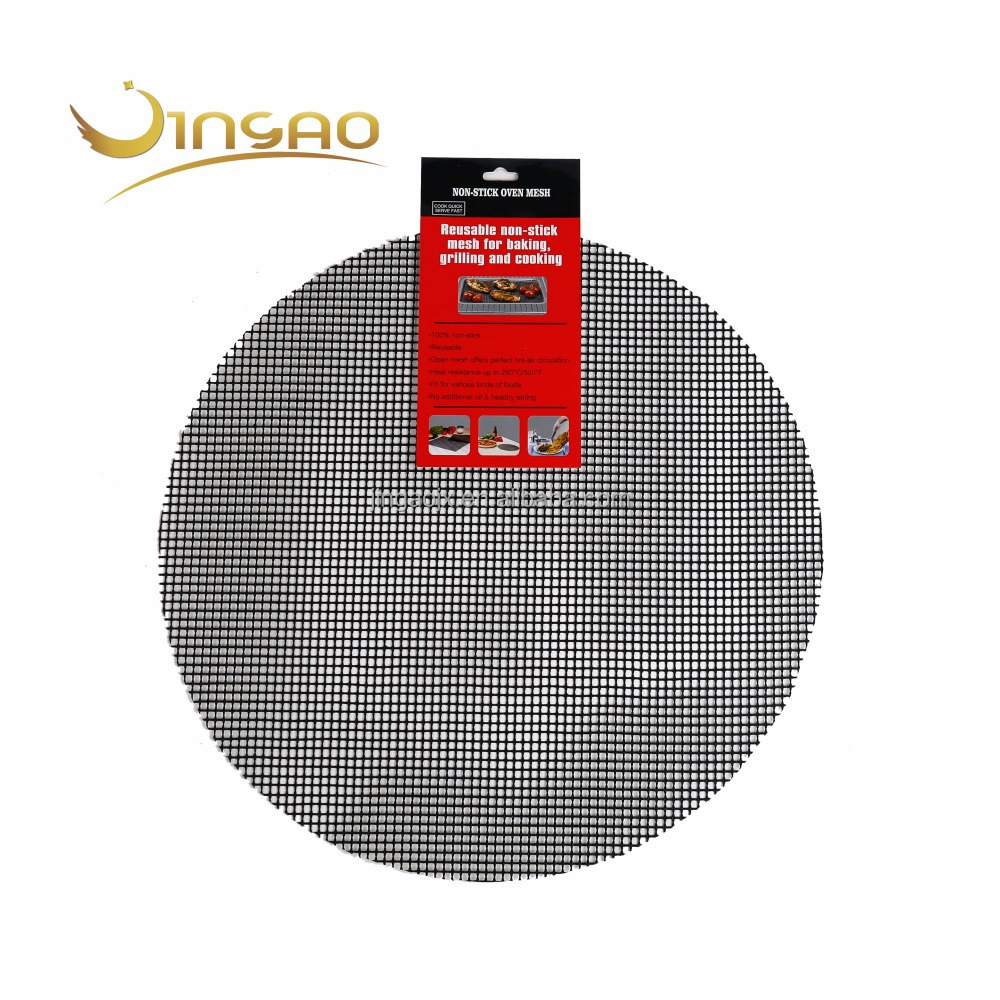 Super Tough Grilling Tool grill mesh round black brown mesh mat