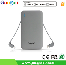 New style 5000 mAh mobile charger external batteries slim portable power bank backup powers