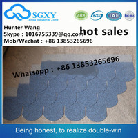 China golden factory Waterproof Roofing Material Laminated color Desert tan asphalt shingle