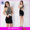 ED251 Sheath V-neck Cap Shoulder Chiffon Evening Dess For Seniors With Embroidery