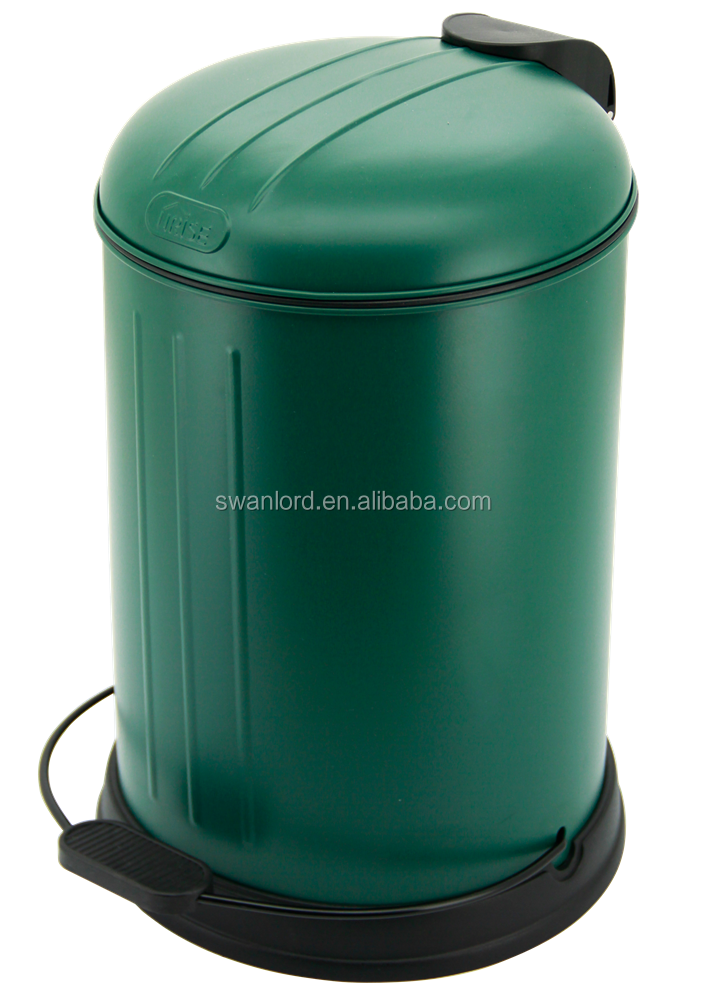 2.6 uk gal PP+ABS+Metal Round Eco-friendly Traditional Dust Bin