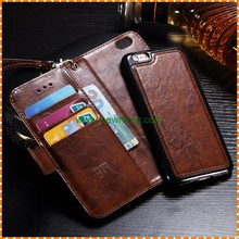 2 in 1 Flip Detachable Leather Removable Wallet Case For iPhone 6 Plus 6S