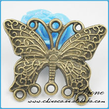 Butterfly Metal Charms Antique Bronze Metal Pendants Beads 20*25mm