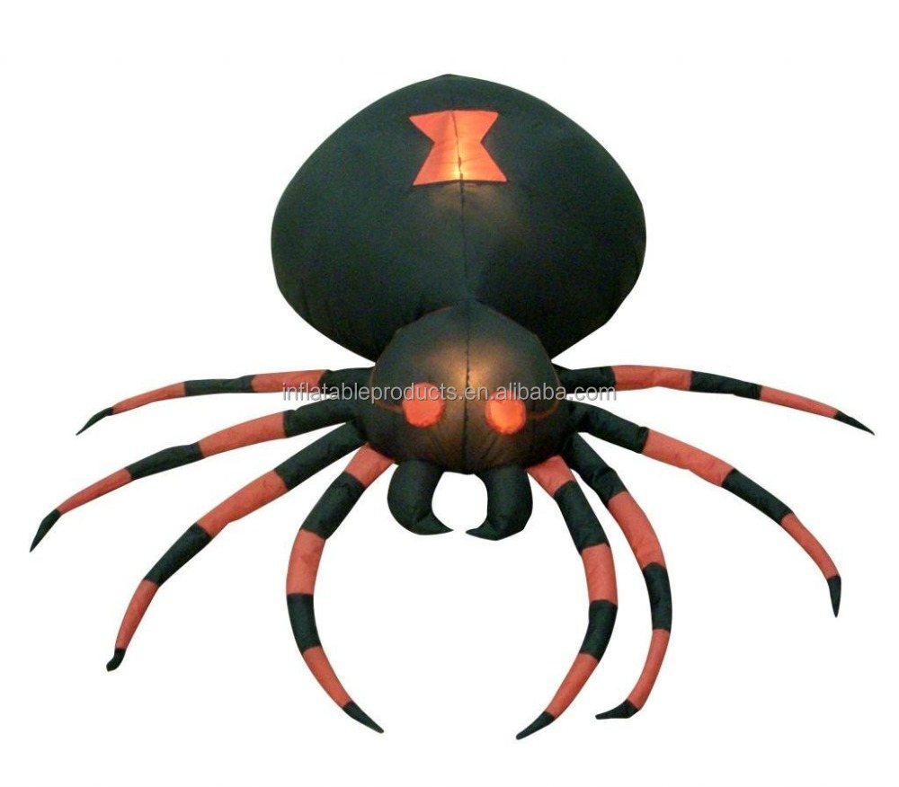 Halloween spider decoration - 4 Foot Wide Halloween Inflatable Black Spider Yard Decoration