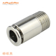 POC male straight brass copper pneumatic hose connector one touch quick connect air fittings