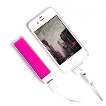 portable pocket travel essential 2600mah mini size lipstick power bank for smartphone