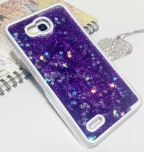Dynamic Liquid glittering quickstand star case back cover for Huawei Honor 3X G750