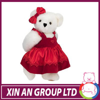 ICTI factory Red dress Plush teddy bear 20cm