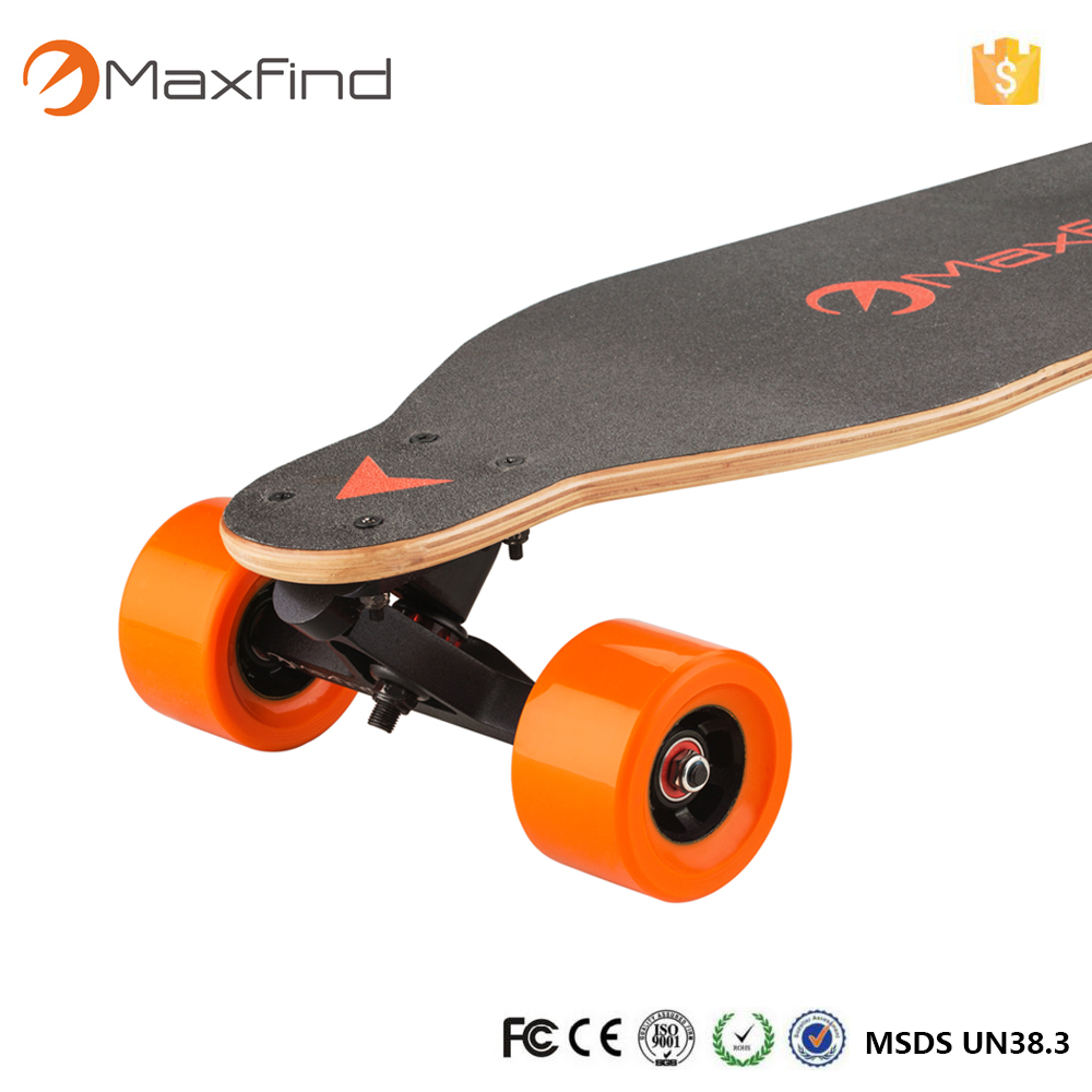 High qulity Maxfind smart board dual hub brushless motors electric skate board 4 wheels with 8 layer Canadian maple deck
