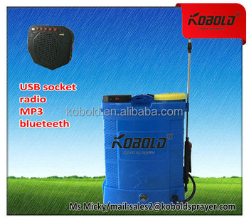 kobold 16L diaphragm pump sprayer with a MP3