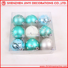 Promotional Decorative Apple green Christmas ball