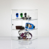 Premium Clear Acrylic Display Case Sundries Storage with two shelves