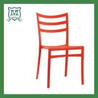bright colored stacking outdoor plastic chair
