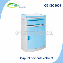 Functional blue ABS hospital bedside table