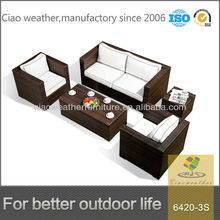 Outdoor Garden Exclusive PE Rattan Sectional Sofa Furniture for sale