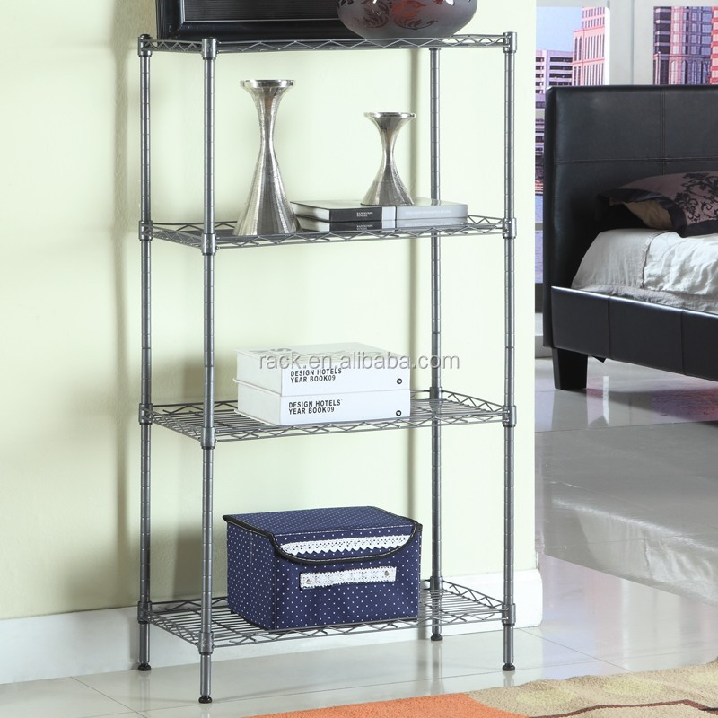 1601L- DIY 4 Tiers Powder Coated Wrought Iron Corner Shelf,NSF Approval
