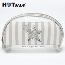 New Arrival Competitive Price Beautiful Durable Girls Fashion Zipper Travel Soft Leather Pu Cosmetic Bag