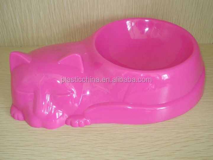 pet bowl with a cat model