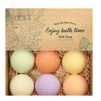 Wholesale Natural Essential Oils Handmade Fizzy Bubble Bath Bombs