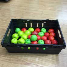 Reusable plastic crate for vegetable fruit and produce harvest/storage
