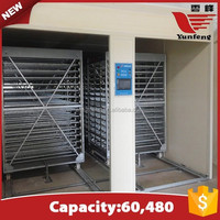 YFXF-60 high capacity best price multi-stage 60480 eggs large industrial egg incubator chicken