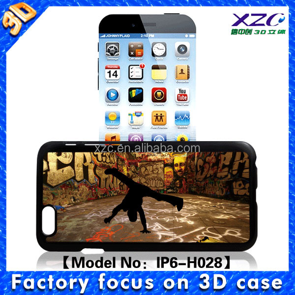 mobile phone case with popular 3d Dance boy image phone case for iPhone 6