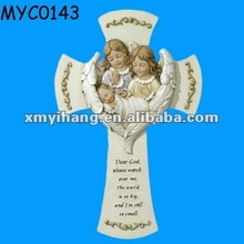 Cross with angel baby shower gifts