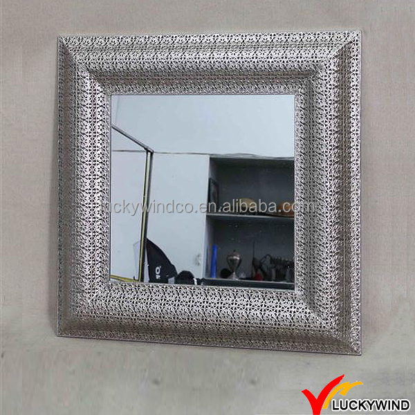 Antique Sterling Silver Vanity Craft Decorative Mirror Squares