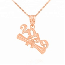 wholesale bulk cheap fashion custom alloy 2019 class graduated anniversary gift <strong>necklace</strong>