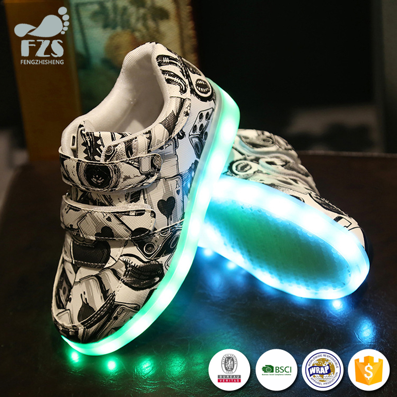 HFR-TS346-25 hot sale online flashing lights shoes