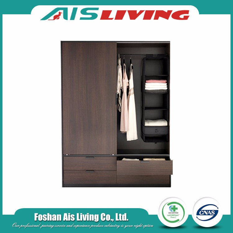 Wood style diy combination portable veneer closets wardrobe design