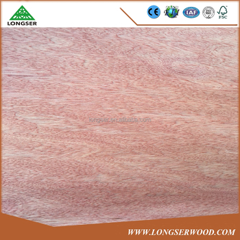 Natural veneer B grade 8x4 0.28mm Bintangor wood veneer