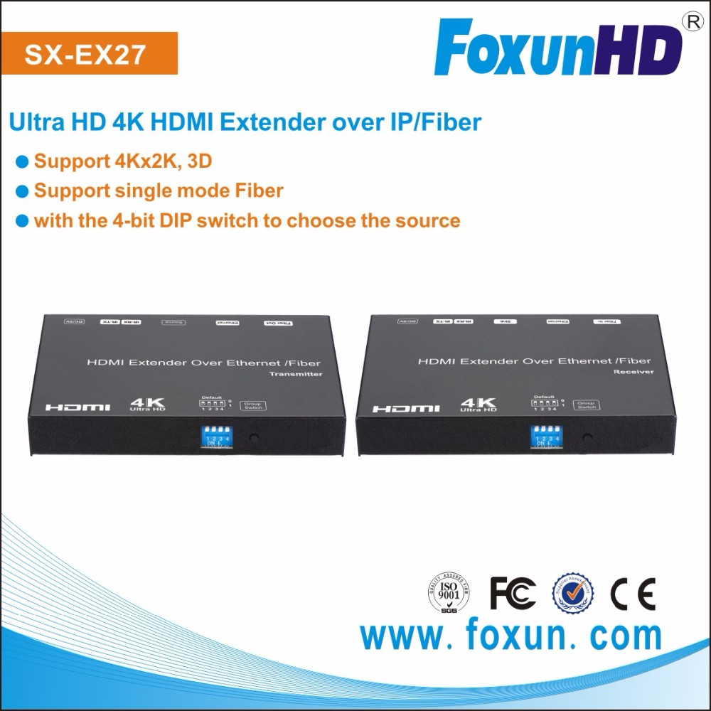 Foxun 4K HDMI Extender many to many over ethernet switch support 8x16 video wall RS232 control