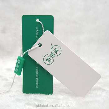Custom High Quality Garment Paper Swing Tags Hanging Tablets