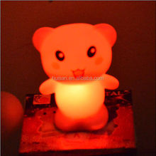 new style Promotional Gift LED Light Changing Teddy Bear/Rabbit/Cat/Egg, lighted christmas cat gift, Various Shapes