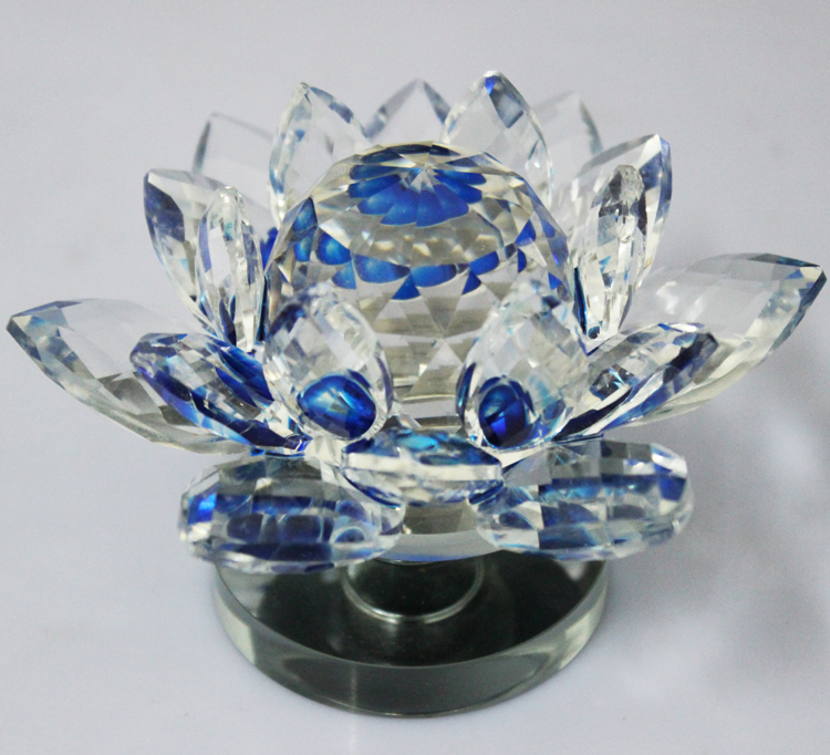 cute rotatable crystal decorative glass flowers